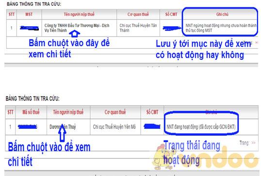 Tra cứu thông tin người nộp thuế online
